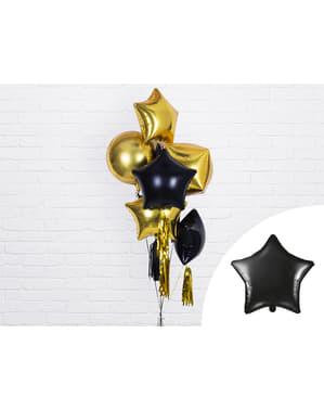 Folie ballon in de vorm van een ster in zwart