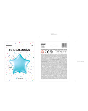Błękitny balon foliowy Gwiazda