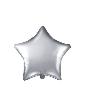 Foil balloon in the shape of a star in silver