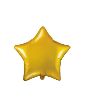 Globo de foil con forma de estrella dorado