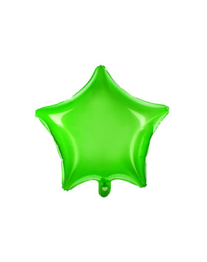 Foil balloon in the shape of a star in green