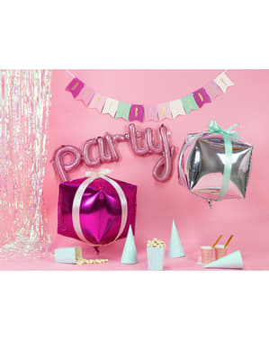 Różowy balon foliowy