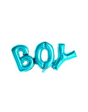 בלון מבריק כחול עם כיתוב