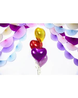 Balão de foil 45 cm com forma de coração vermelho
