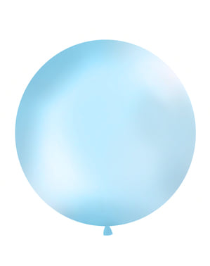 Giant balloon in pastel sky blue
