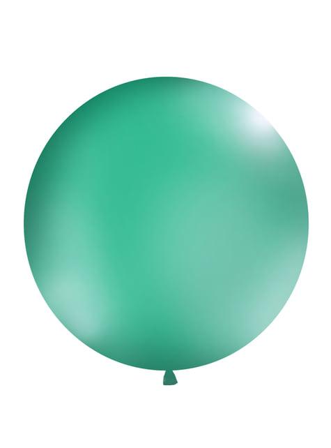 1 ballon géant vert foret (1 m)