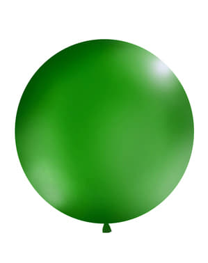 Giant balloon in dark pastel green