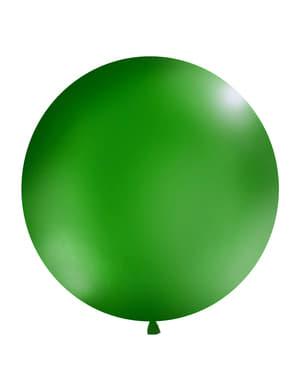 Огромен балон в пастелен тъмнозелен цвят