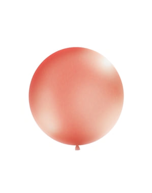 Giant balloon in pastel rose gold