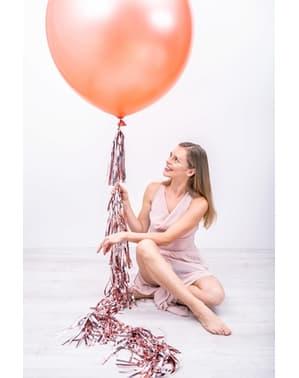 Gigantische ballon in pastel rosé goud