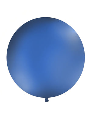 Giant balloon in pastel navy blue