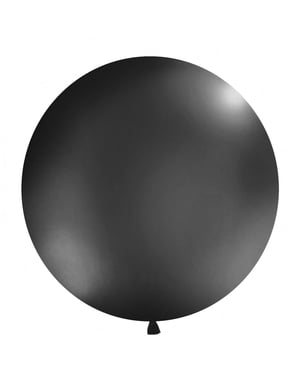 Giant balloon in pastel black