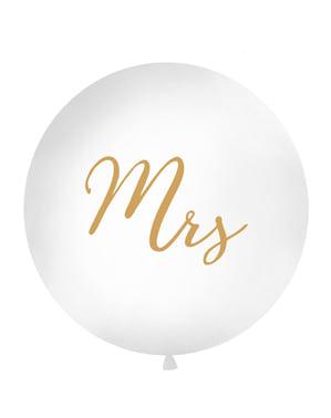 """विशालकाय """"श्रीमती"""" गुब्बारा सफेद 1 मीटर में"""
