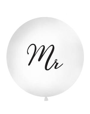 """विशाल """"श्री"""" गुब्बारा सफेद रंग में"""