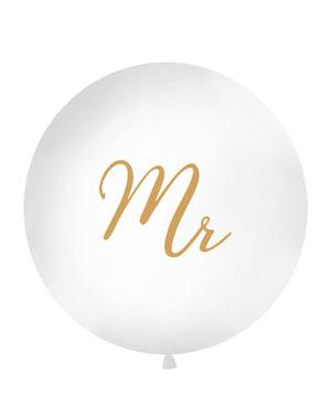 """विशालकाय """"श्री"""" गुब्बारा सफेद 1 मीटर में"""