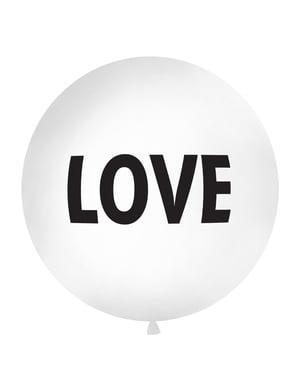 "सफेद में विशाल ""प्यार"" गुब्बारा"