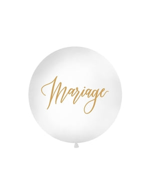 """सफेद में विशालकाय """"विवाह"""" गुब्बारा"""