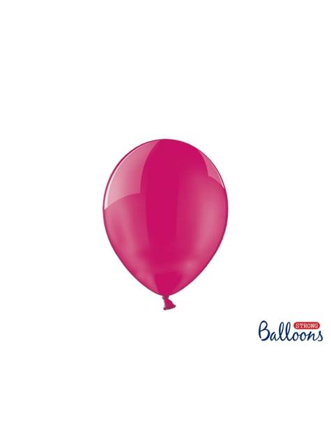 100 silných balónků v růžové barvě, 23 cm