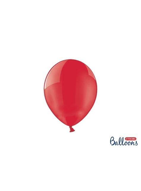 100 Luftballons extra stark korallenrot (23 cm)