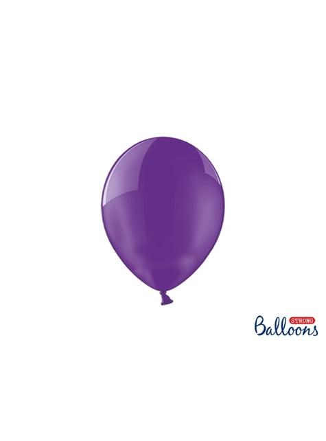 100 globos extra resistentes lila (23 cm)
