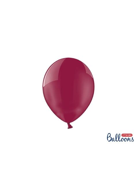 100 balões extra resistentes  grená (23 cm)
