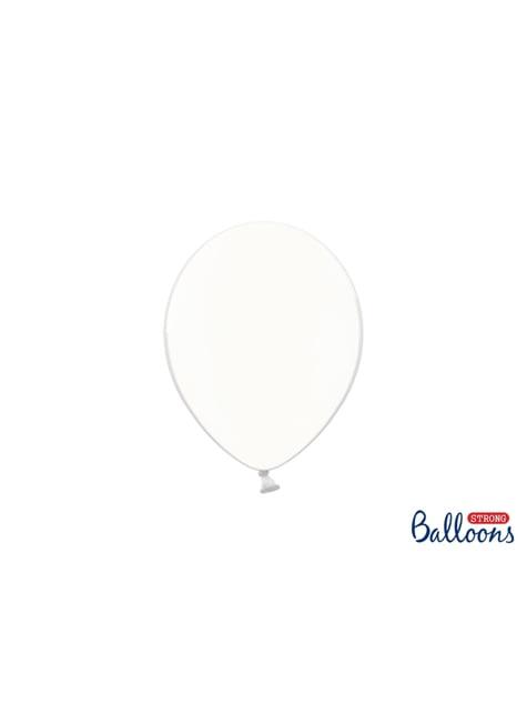 100 globos extra resistentes transparente roto (23 cm)