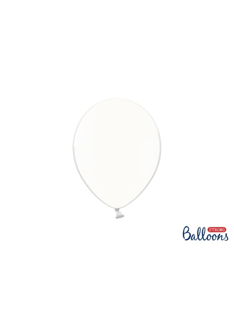 100 Luftballons extra stark cremefarben transparent (23 cm)