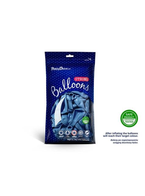 100 Sterke Ballonnen in Metallic Medium Blauw, 23 cm