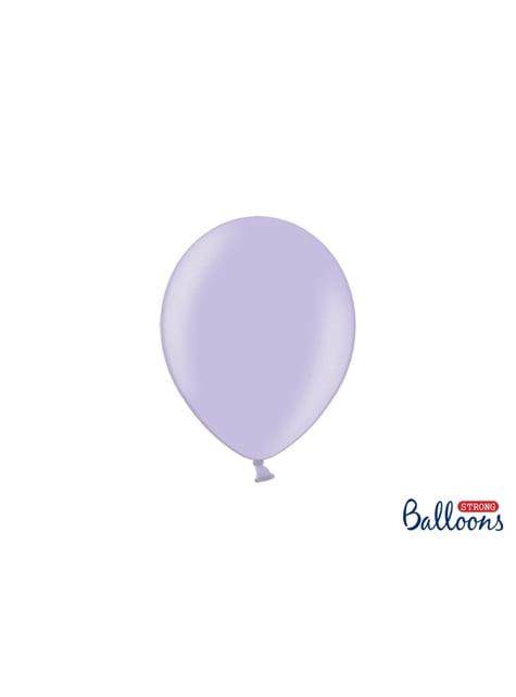 100 Sterke Ballonnen in Metallic Paars, 23 cm