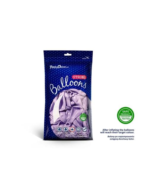 100 silných balónků v matné fialové barvě, 23 cm