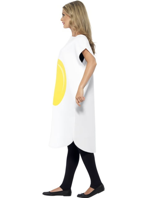 Fried egg costume for a man