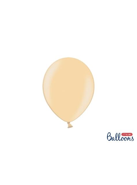 100 ballons extra résistants 23 cm orange métallisé