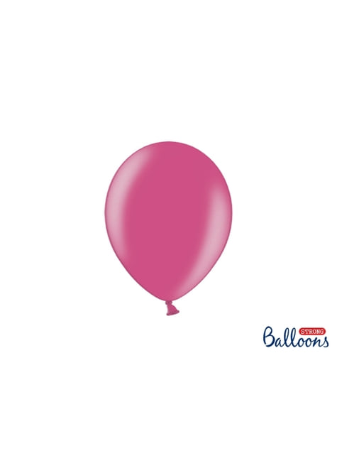 100 Palloncini super resistenti di 23 cm rosa metallizzato