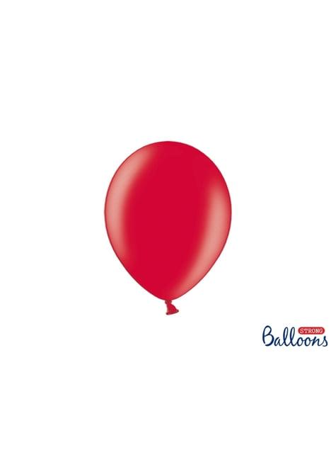 50 balões extra resistentes coral metalizado (23 cm)