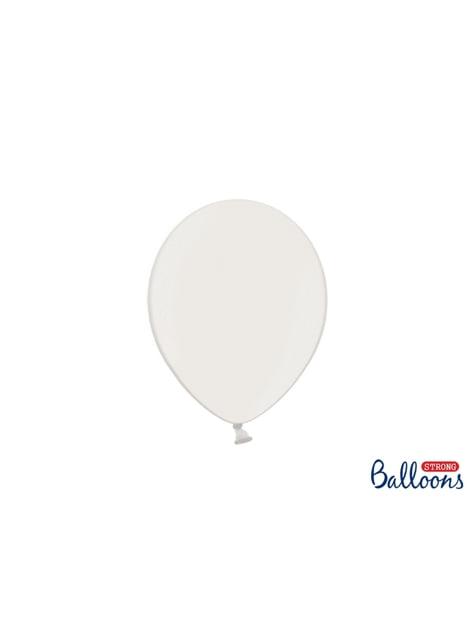 50 extra silných balonků metalicky bílých (23 cm)