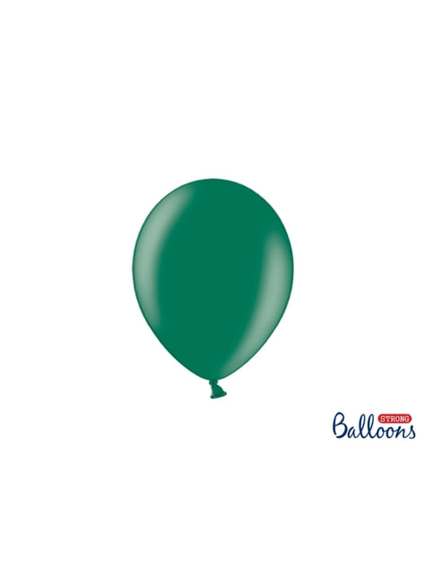 100 Palloncini super resistenti di 23 cm verde bottiglia metallizzato