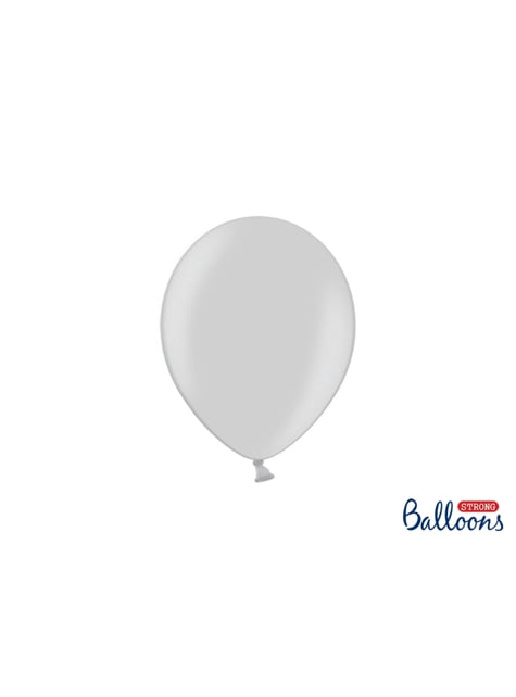 50 globos extra resistentes gris brillante (23 cm)