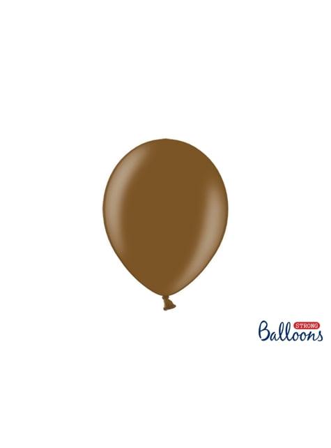 100 Palloncini super resistenti di 23 cm marrone metallizzato