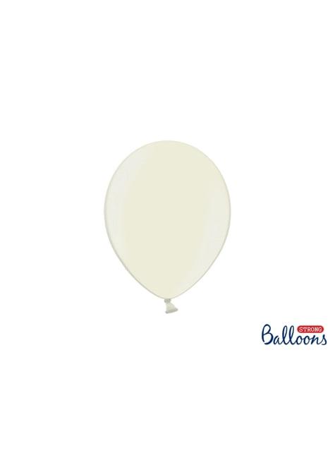 100 globos extra resistentes beige metalizado (23 cm)