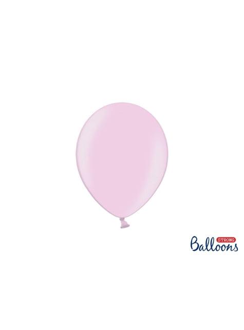 100 silných balónků v matně růžové pastelové barvě, 23 cm
