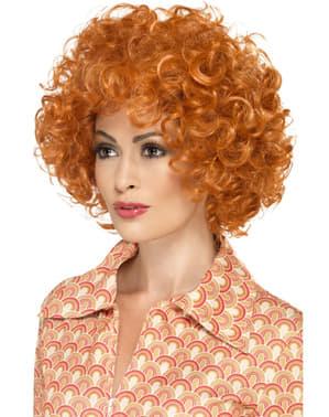 Rødhåret Afro Parykk for Dame