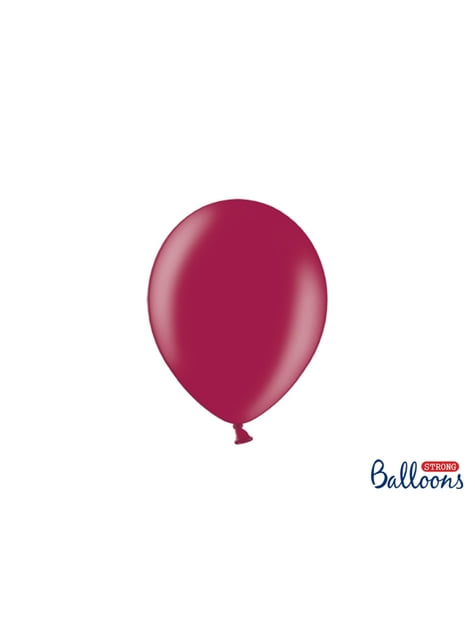 100 silných balónků ve vínově červené barvě, 23 cm