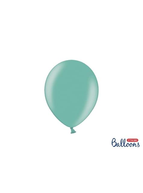 50 silných balónků v matně tyrkysové barvě, 23 cm