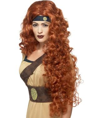 Parrucca guerriera medievale donna