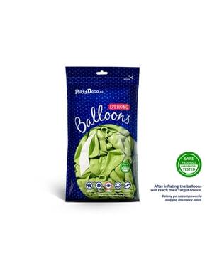 Metalik kireç yeşili (23 cm) 50 ekstra güçlü balon