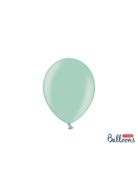 100 balões extra resistentes  verde menta suave mentalizado (23 cm)