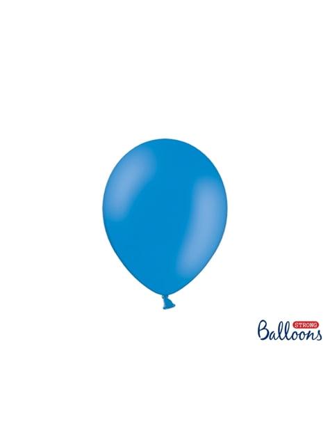 50 globos extra resistentes azul semiclaro metalizado (23 cm)