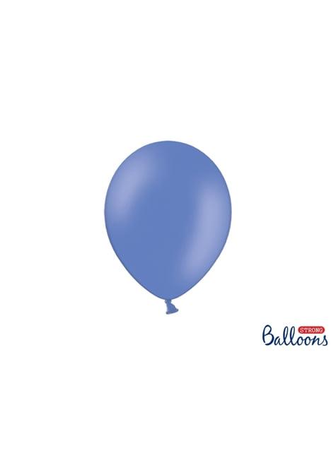 50 balões extra resistentes azul cobalto metalizado (23 cm)