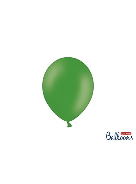 100 silných balónků v matné smaragdové barvě, 23 cm