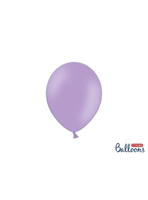 100 ballons extra résistants 23 cm lavande métallisé
